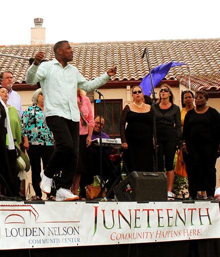 Junteenth celebration, Santa Cruz
