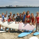 Santa Cruz Jr. Lifeguards with surfboards