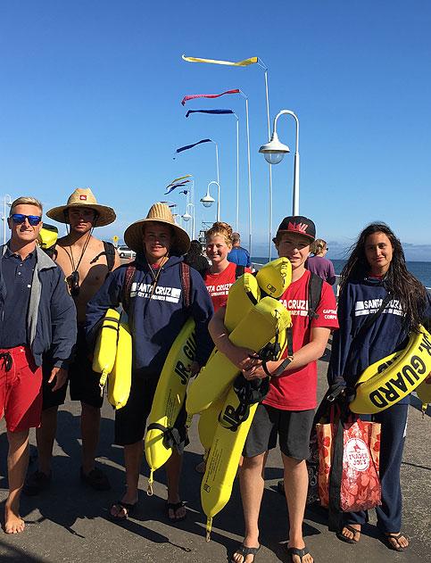 Santa Cruz Jr. Lifeguard Captain Corp