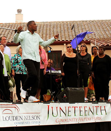 Junteenth celebration, Santa Cruz