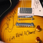 Signed electric guitar