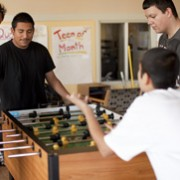 Teen Center foosball